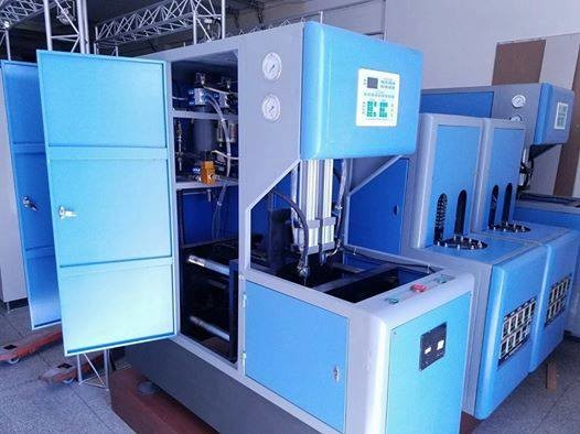 Blue 900 Pcs / H Pet Preform Injection Moulding Machine For 100ML- 2000ML Size