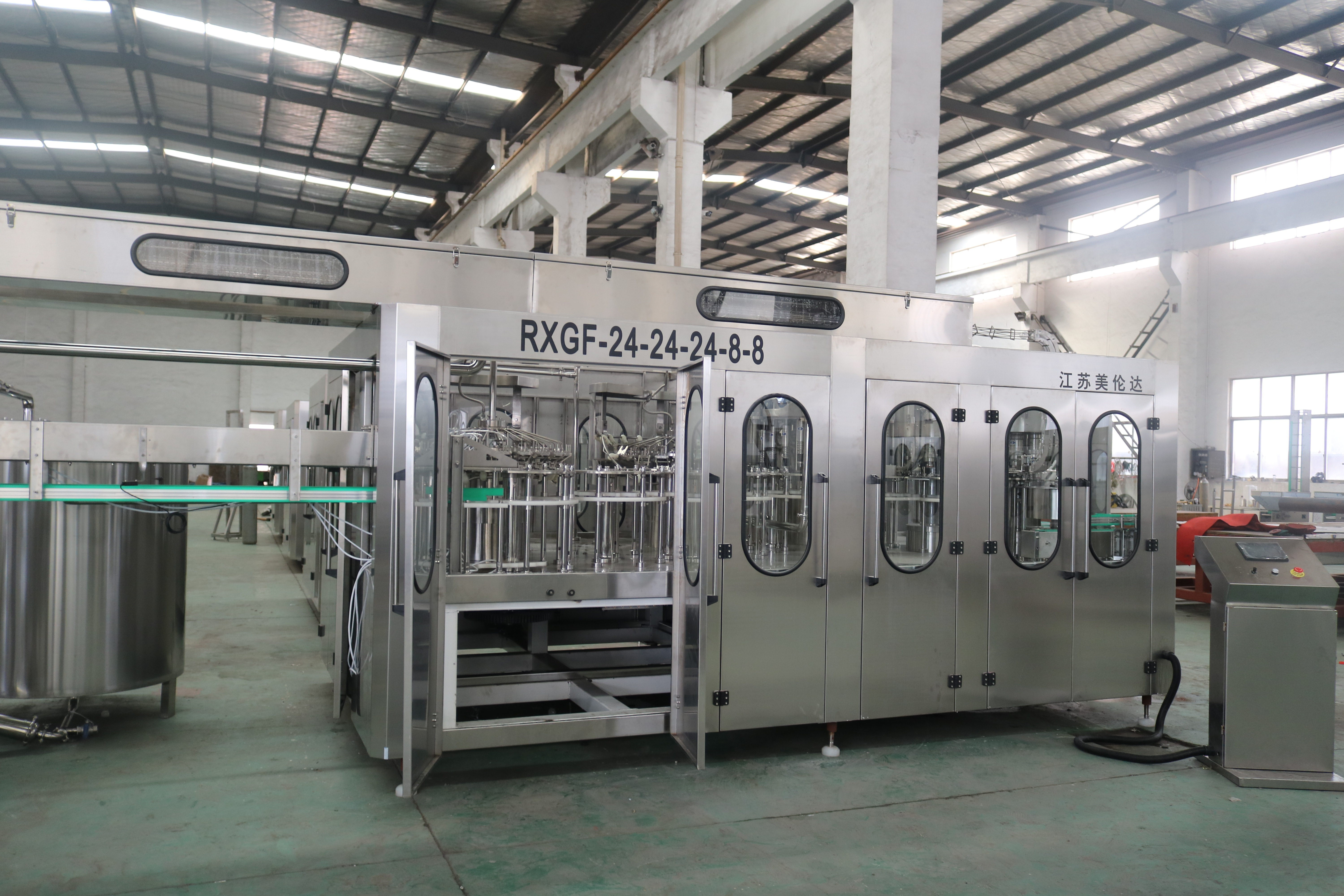 Alcohol / Whiskey Liquid Filling Machine , Carbonated Beverage Filling Machine